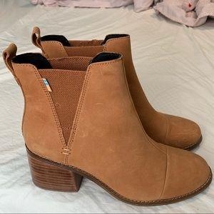 TOMS tan suede Esme boots
